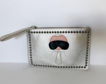Karlito inspired silver clutch