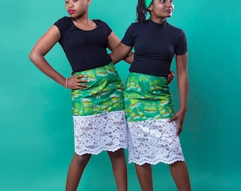 Lime and Lace Skirt