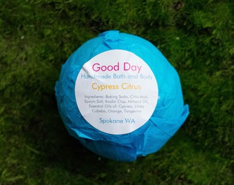 All Natural Cypress Citrus Bath Bomb