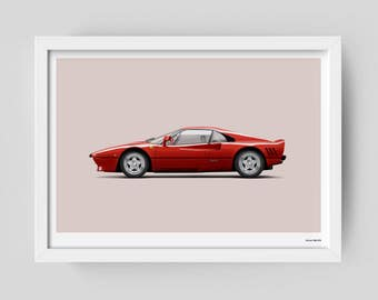 Ferrari 288 GTO limited edition art poster