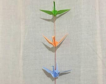 5 Five Origami Cranes on a string