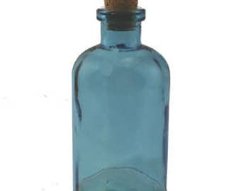 8 oz Blueberry Apothecary Glass Bottle for Reed Diffuser