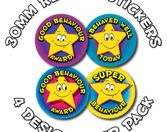 Good behaviour awards - 30mm Children Reward Stickers - Schools,Teachers