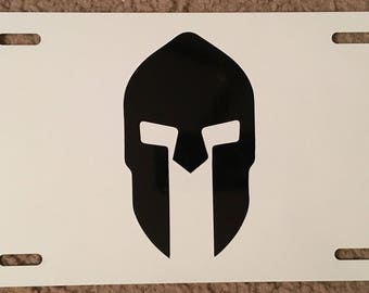 Spartan Trifecta License Plate