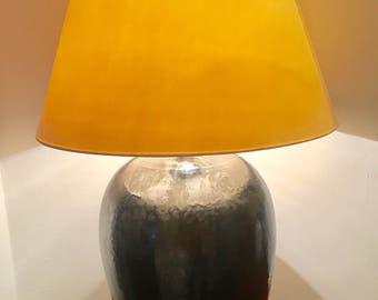 Danish pottery table lamp from the 50s. Danish lamp   Danish ceramics   Mid century lamp  