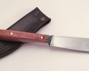 EDC knife - medieval knife -  high carbon steel knife - leather sheath - Viking knife