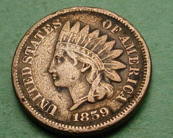 1859 Indian Head Cent Fine  FREE Shipping In United States # ET261