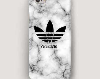 Grey Marble iPhone 7 Case, Adidas iPhone 6 Case, iPhone 5S Case, iPhone SE Case, Phone Cover, Apple Phone Case, Grey Marble Case for iPhone