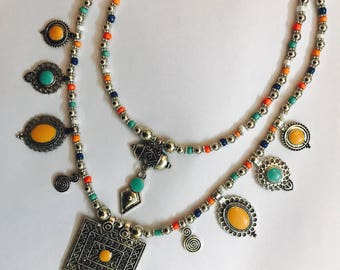 Turkish Necklace, Royal Beaded Multilayered Necklace
