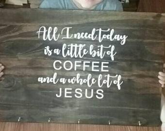 Coffee bar kitchen sign, kitchen sign, coffee sign