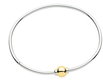 CAPE COD BRACELET Two Tone w/ 14k Gold Screw Ball. Brand New, Best Quality Guaranteed