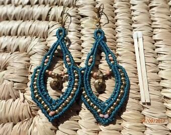 Given to dear friend! earrings, macrame, warrior Goddess