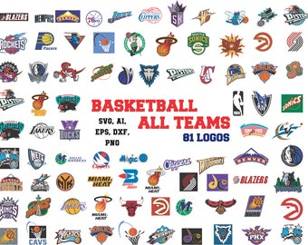 Basketball All Teams logos svg in svg, ai, eps, dxf, png. INSTANT DOWNLOAD