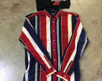 Tommy Hilfiger seal pinstripe button down