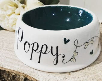 Hand Painted Dog Bowl