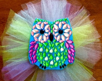 Owl tulle bow