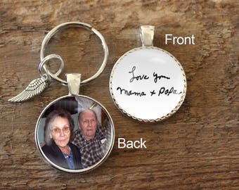 Custom, Made to Order, Photo Key chain, Photo keychain, Photo Pendant, Handwritng Pendant, Handwriting Necklace