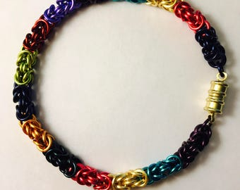 Multi-Colors Byzantine Bracelet