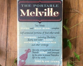 SALE Herman Melville The Portable Melville First Edition Paperback Vintage Book