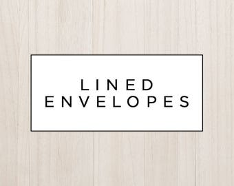 Upgrade to Lined Envelopes