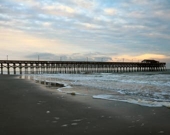 Pier at Myrtle Beach SC at Sunset Instant Download Stock Photo