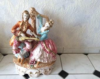 7 Capodimonte figurines