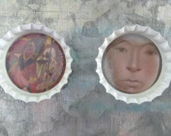Native Inspired Bottlecap Magnets