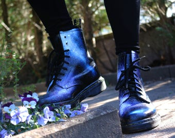 Doc Martens with occasion handpainted Galaxy - size to choose from - design made to order