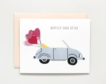 Wedding Car - Wedding Card