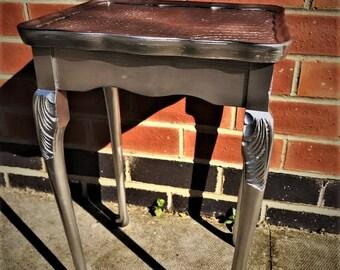 Silver snakeskin table