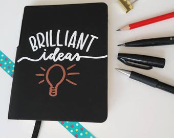 Handmade Notebook Brilliant ideas(incl. pen)