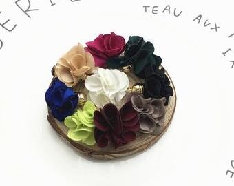 10 piece Flowers pendant tassels/Brush earrings accessories