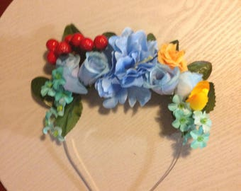 Rainbow Dash My Little Pony Inspired Flower Crown