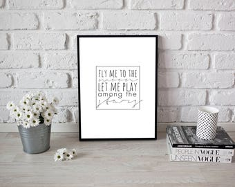 Fly me to the Moon Print - Digital Download