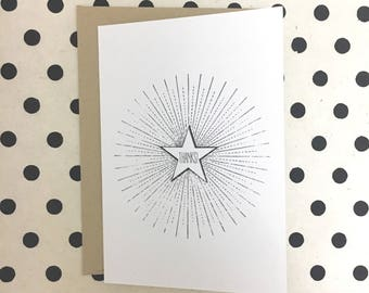 Thanks! Radiant Star Card, Thank You Card