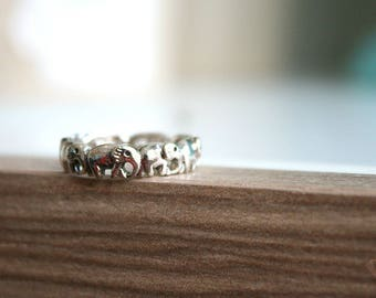 Elephant ring sterling silver 92.5%