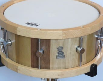 "13""X6.5"" Stave Snare Drums, Maple Snare  Drums, Poplar Snare Drums, American walnut Drums, Stave Drums, Wooden hoops, Handmade Snare Drums"