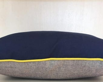 blu & grey cushion