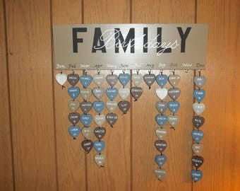 Family Birthday Plaque *FREE SHIPPING