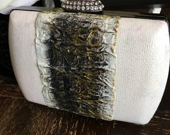 Tuxedo clutch purse, handbag