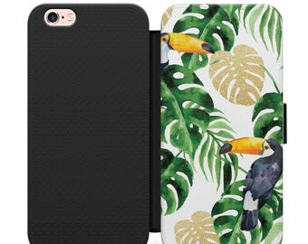 Shell case Iphone 4, 5, 6, 7 Tropical 003 black edges