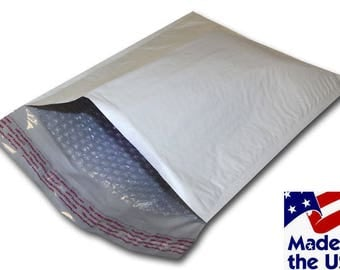 25 BUBBLE MAILE, 9.5x14.5 , #4 White Poly Bubble Mailer Self Seal Padded Envelopes Bubble Envelope, Shipping Supplies