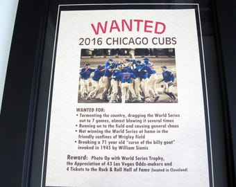 2016 Chicago Cubs - Wanted Poster