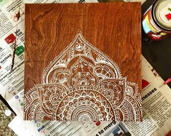 Half manada painted on wood (handpainted)