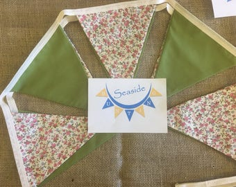 Ditsy floral bunting