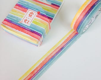 Bright Rainbow Stripes Washi Tape
