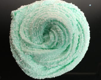 Melted Mint Green Fluffy Floam w/ Micro Beads