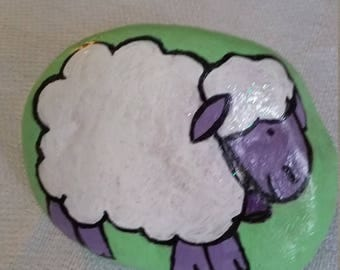 Sweet Sheep Stone Painting/ Rock Painting