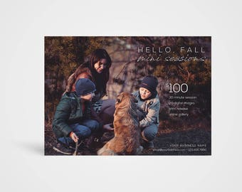 Fall Mini Sessions Template - Instant Download Photoshop Template, Photographer's Marketing Board