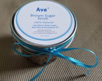Ave' Natural Brown Sugar Scrub for Hands and Body